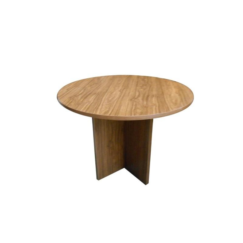 Mesa de reunión 100 de diámetro con patas en aspa