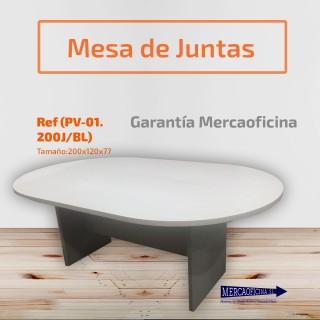 Mesa de reunión de madera nogal barnizada de 100 cm