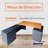 Mesa de dirección compuesta de tapa color peral y estructura color antracita
