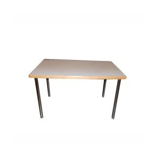 Mesa comedor patas cromadas  120 x 70