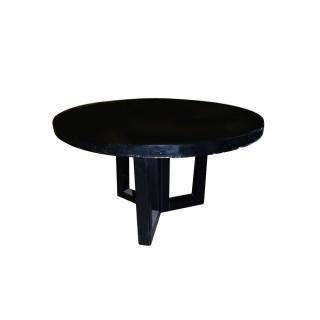 Mesa de reunión redonda de 130 cm de diámetro negra