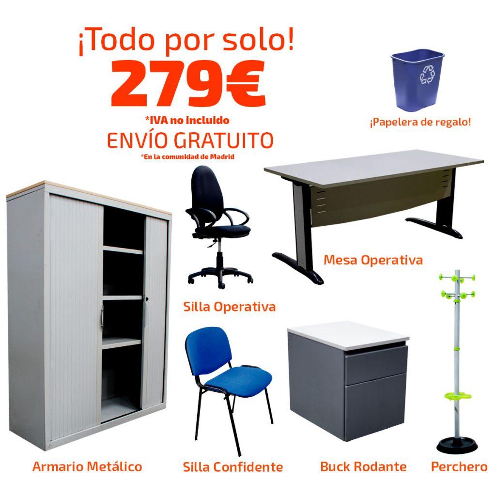 Mercaoficina amplia sus ofertas en mobiliario de segunda mano