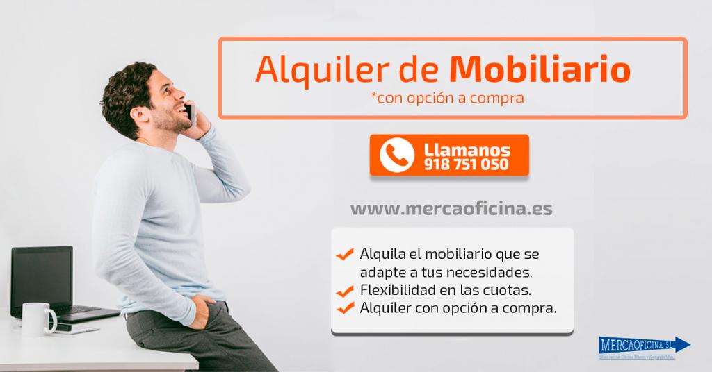 Alquiler de mobiliario de oficina en Madrid y en toda España peninsular